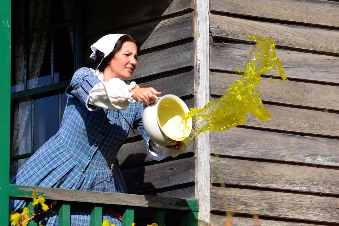 bathroom tudor england woman chamber pot