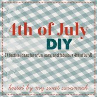 4th of July DIY: Red, White, and Blue, Table for Two!