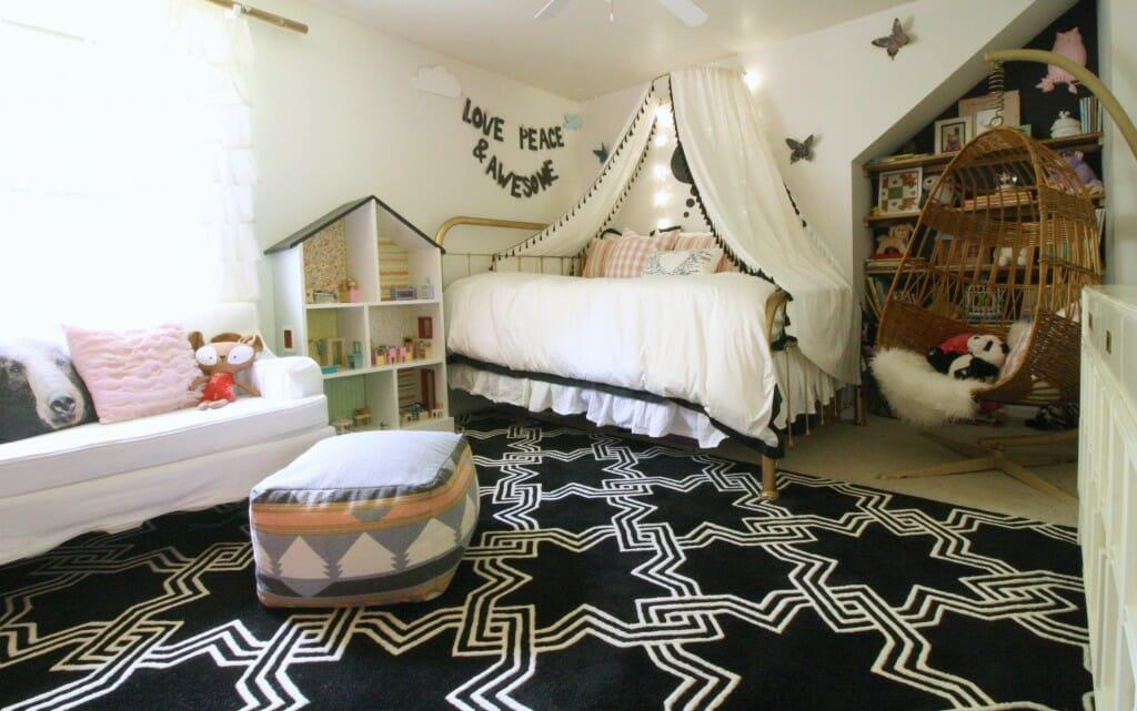 Emmy's Pink Black White Bedroom