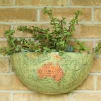 DIY Vintage Globe Succulent Planter