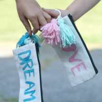 Back to School Style Guide: DIY Painted Pencil Pouch with Tassels