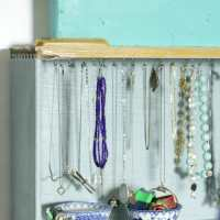 Upcycled Drawer Jewelry Organizer