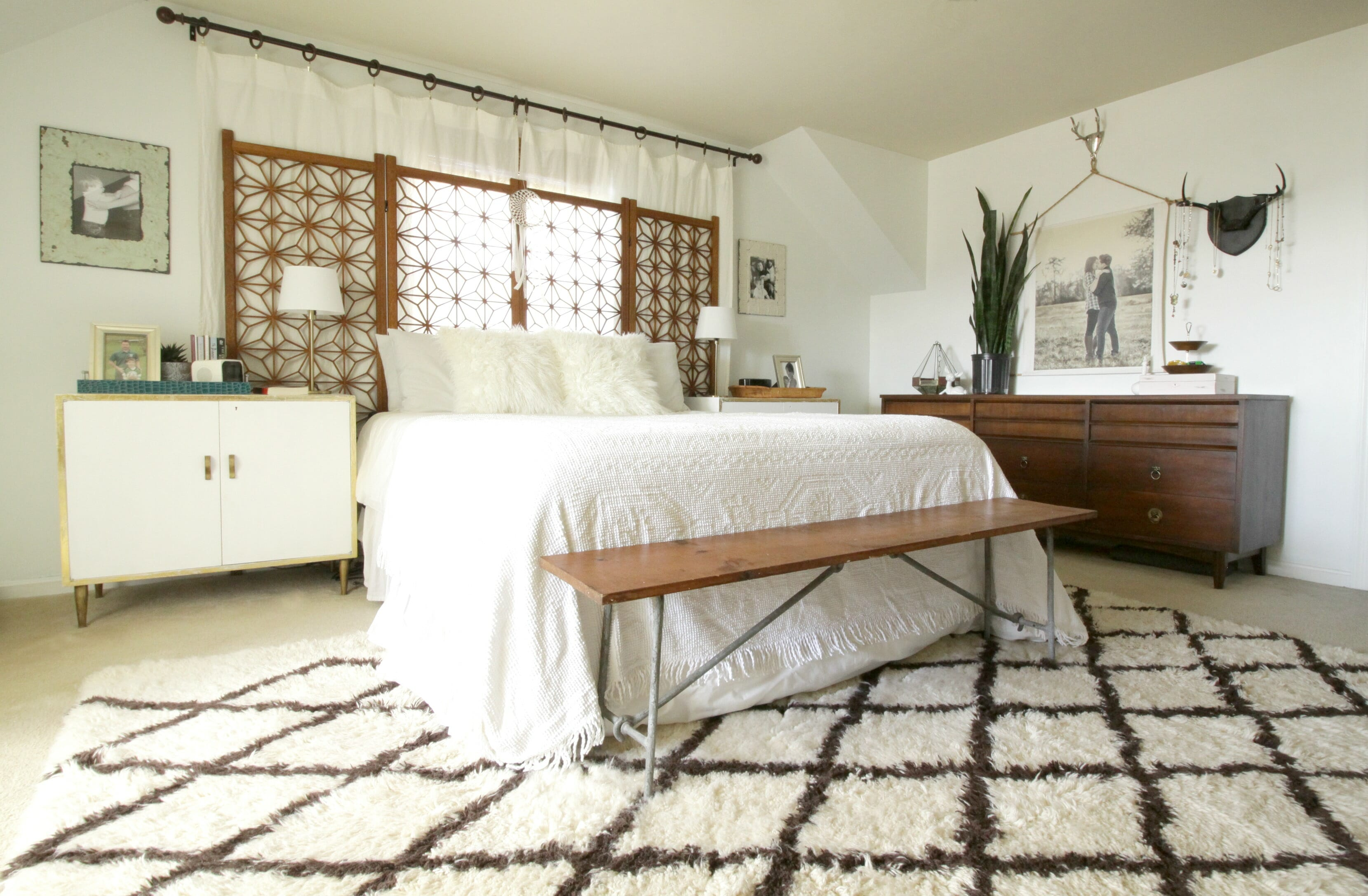 Boho Modern White and Wood Master Bedroom (and Getting a ... on Boho Modern Bedroom  id=43904