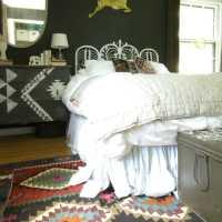 Vintage Kilim Rug in the Guest Room
