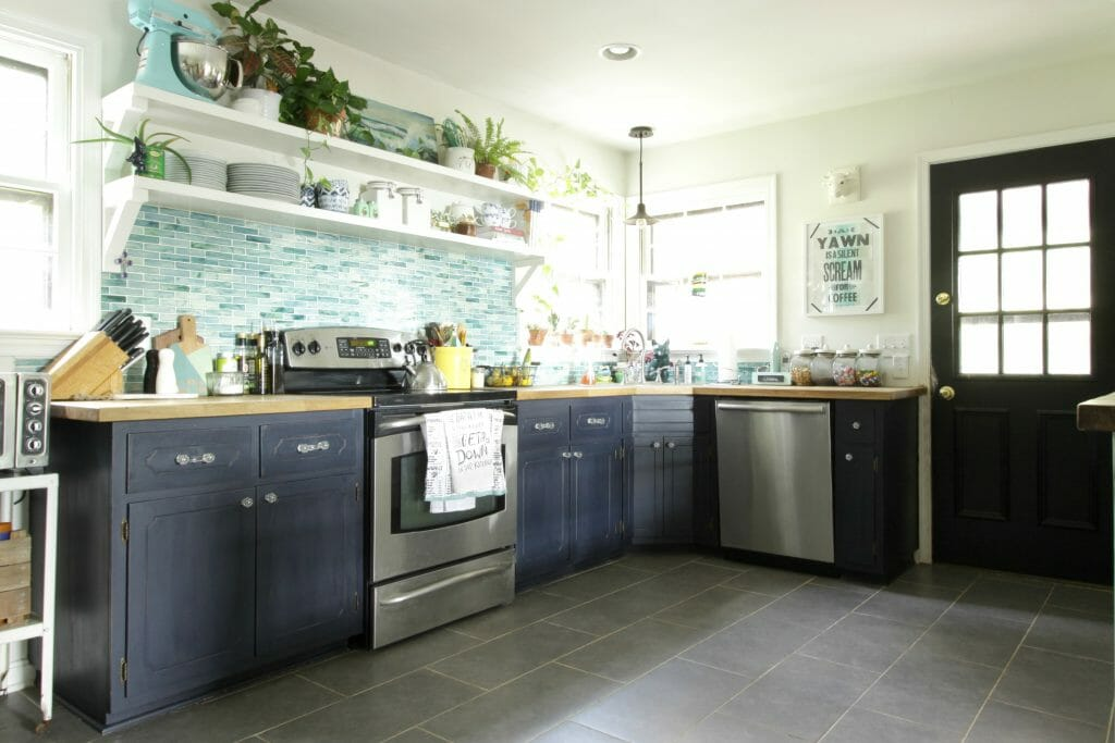 beautiful-blue-aqua-kitchen-open-shelving