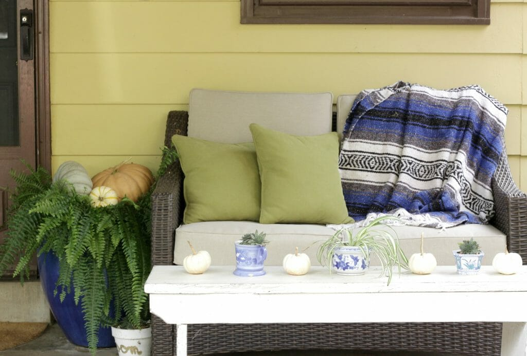 Fall Bohemian Porch Seating