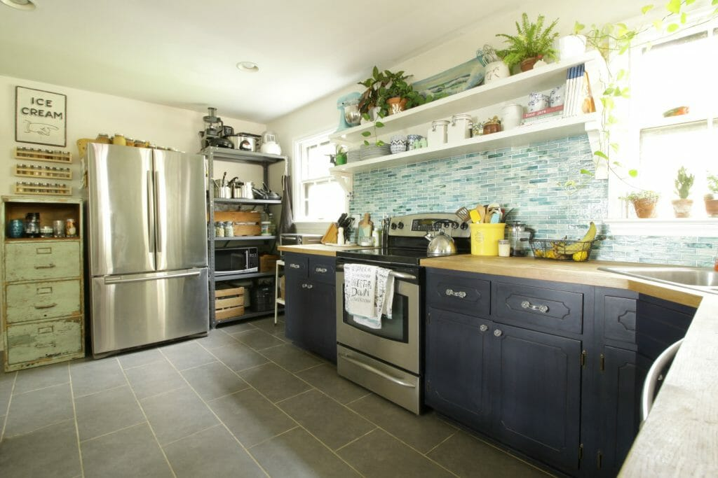 vintage-industrial-eclectic-aqua-kitchen