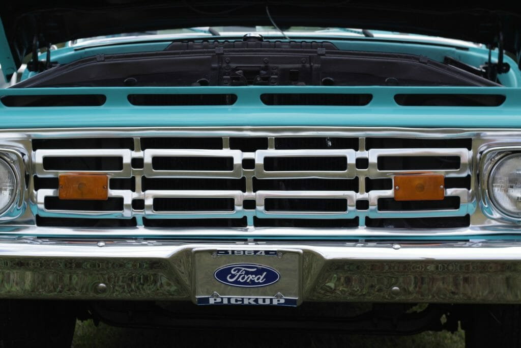 Grill of Ford Pickup