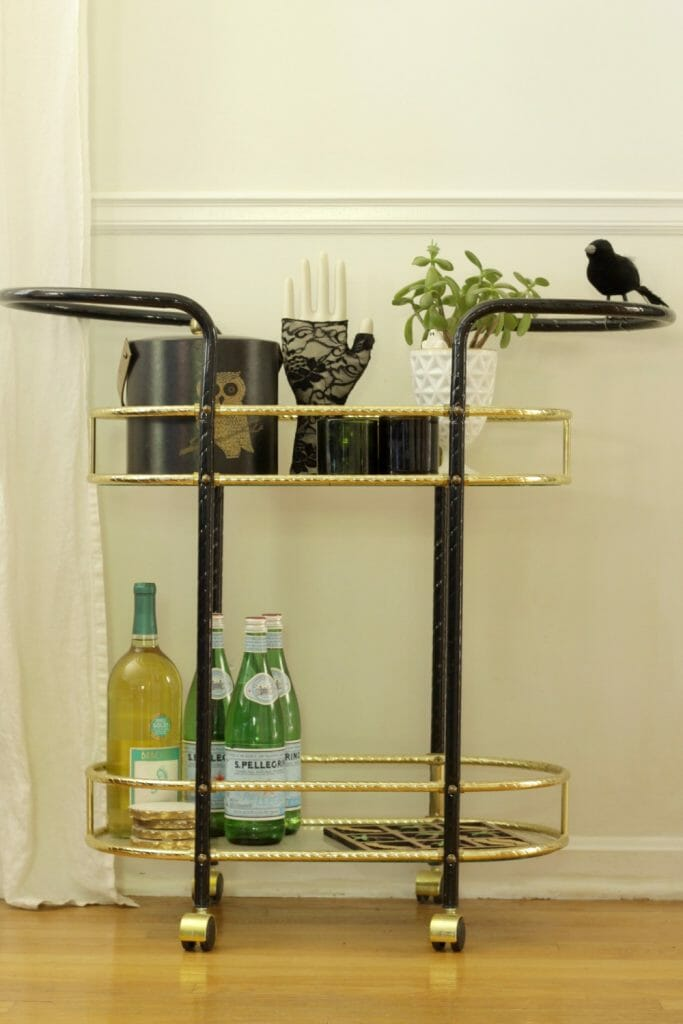 Halloween Styled Bar Cart