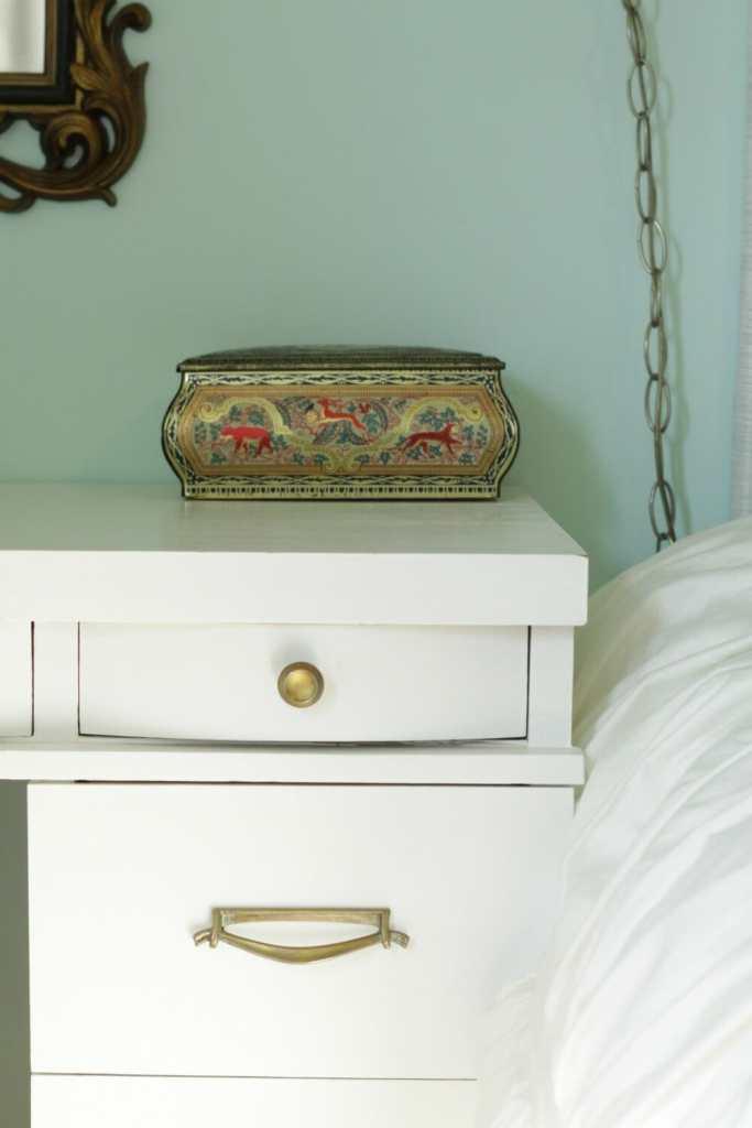 Vintage Metal Box on desk