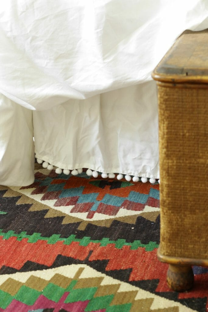 Pom Pom Bed Skirt Details