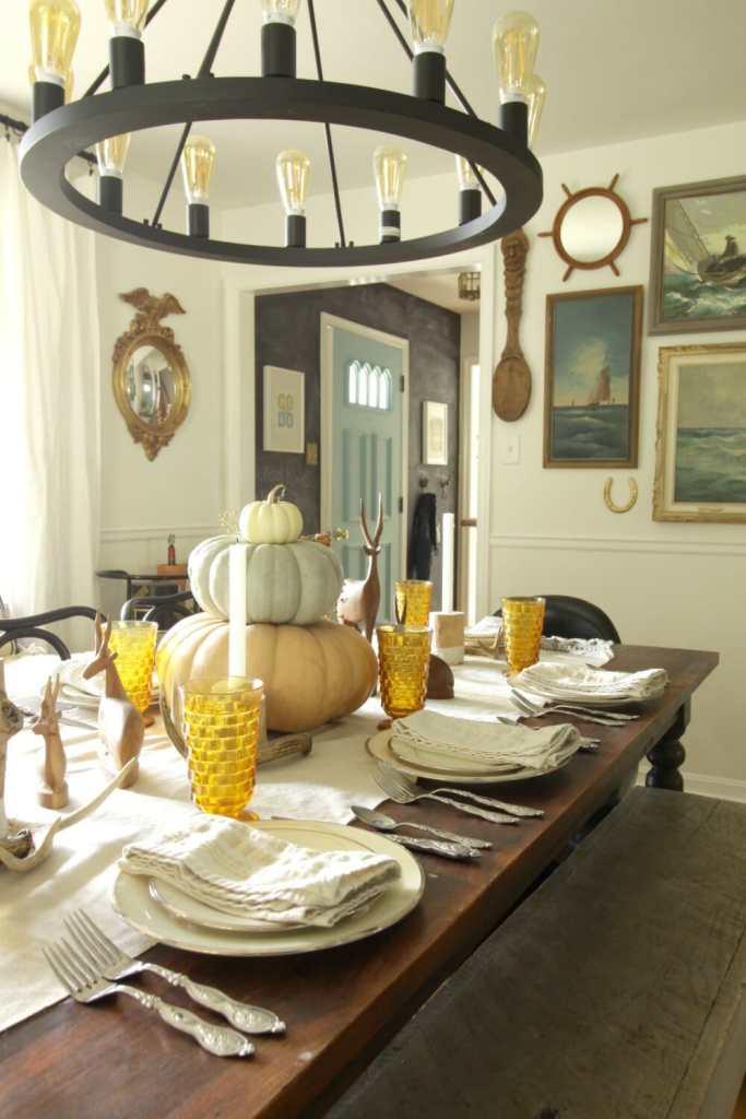 Simple Rustic Modern Vintage Fall Dining Room