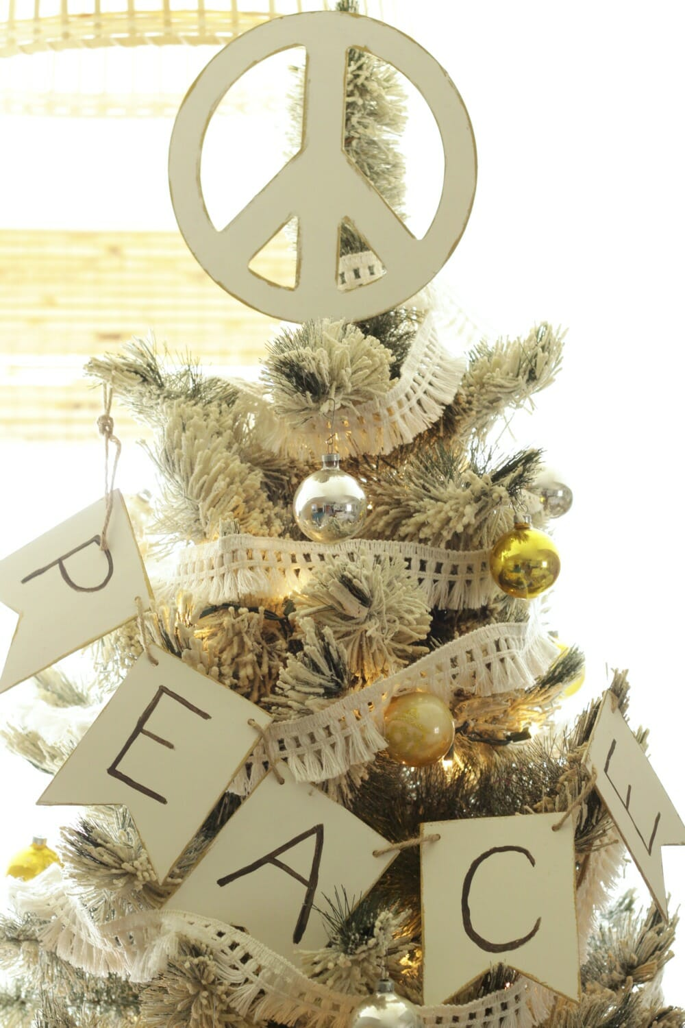 Diy Peace Sign Tree Topper Cassie Bustamante
