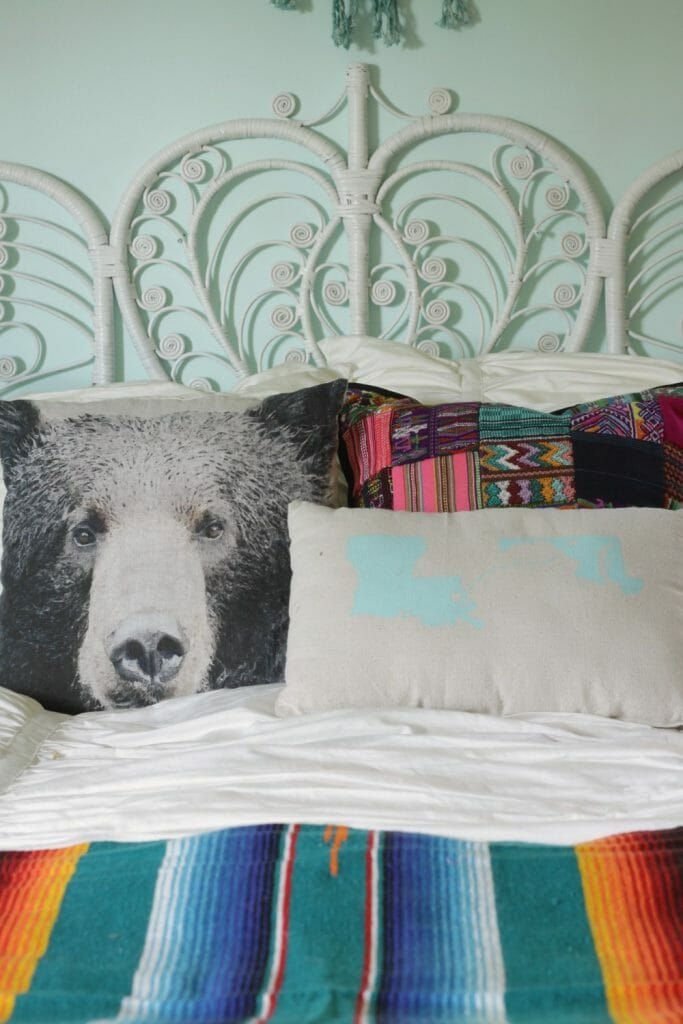 Eclectic Mix Of Pillows : Bohemian Eclectic Girls Bedroom: Our First One Room Challenge Reveal - Cassie Bustamante