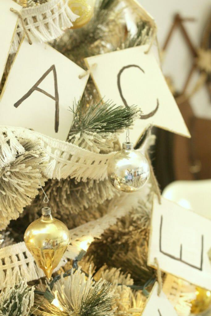 Silver, Gold, White Vintage Tree