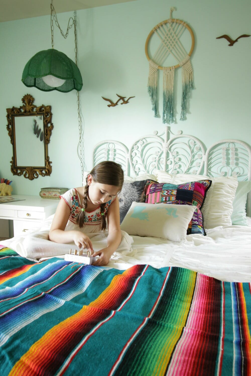 Bohemian Eclectic Girls Bedroom Our First One Room