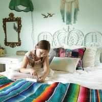Bohemian Eclectic Girls Bedroom: Our First One Room Challenge Rev