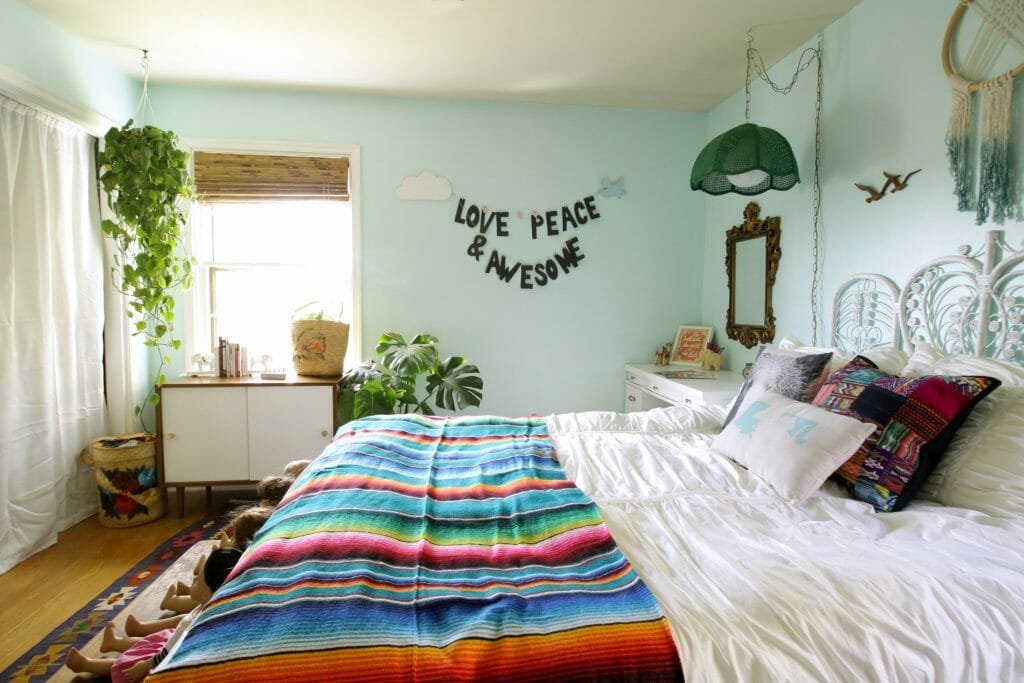 Bohemian Aqua Girls Room