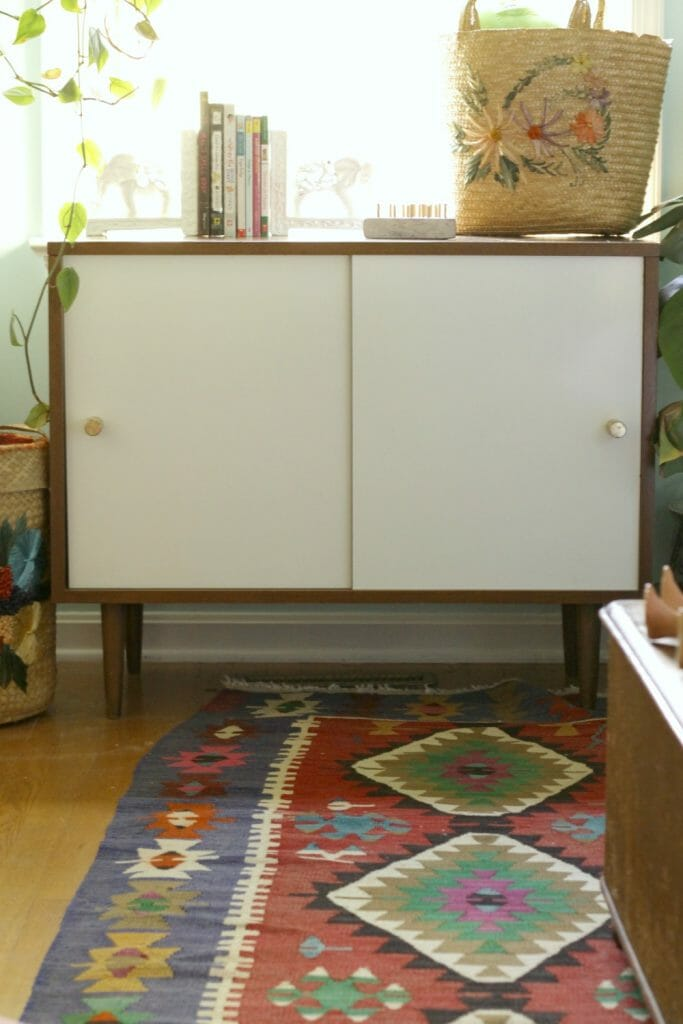midcentury-bookcase-with-added-doors
