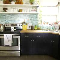 Earthy Vintage Styled Kitchen Shelves (And a Survey!)