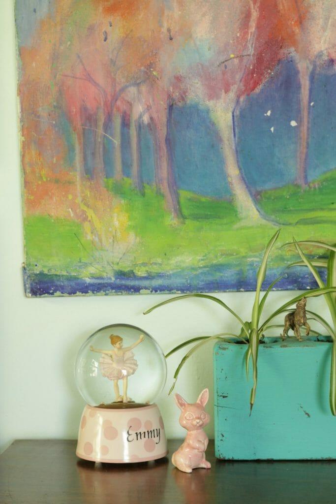 vintage tree painting- colorful