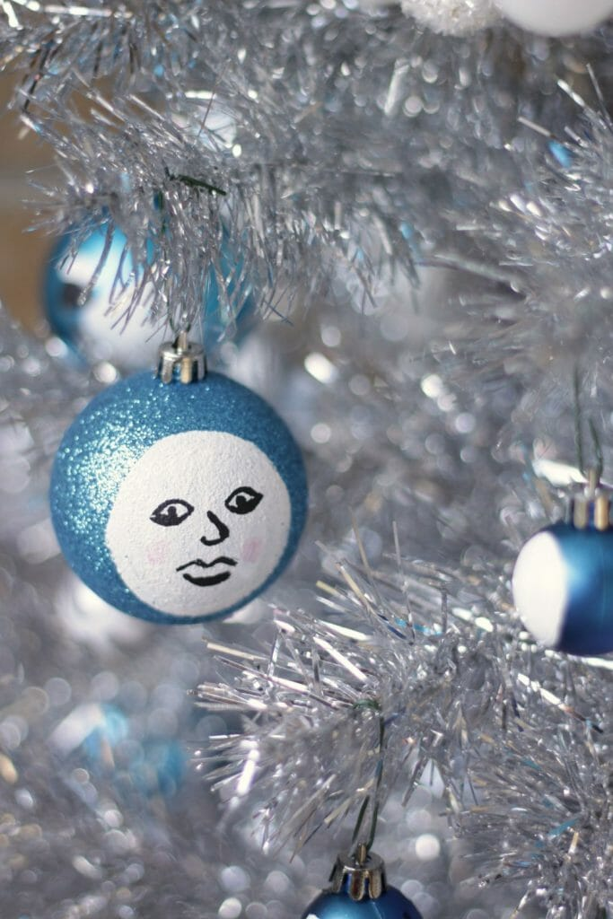 Man in the moon painted ornament DIY