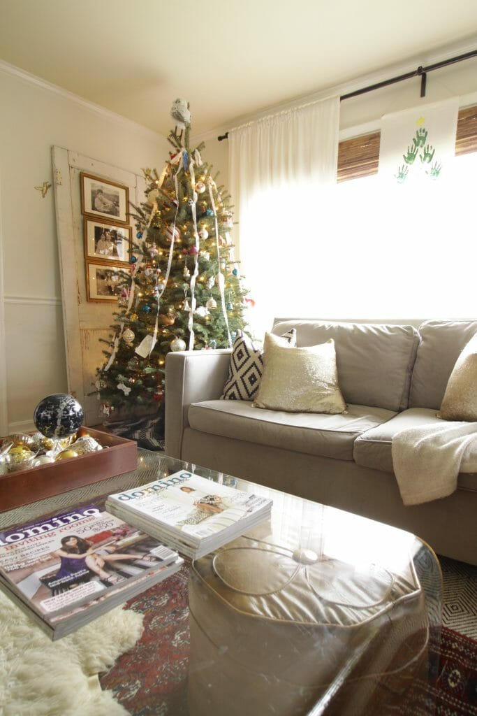 Gray Sofa with Black, White