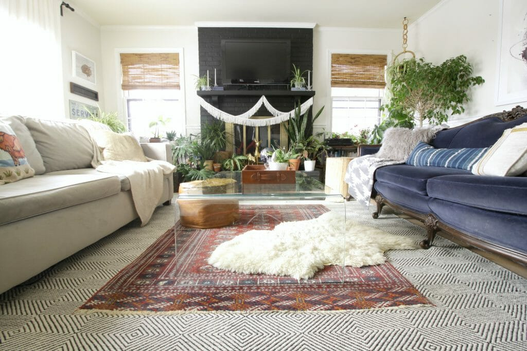 Eclectic Layered Bohemian Living Room