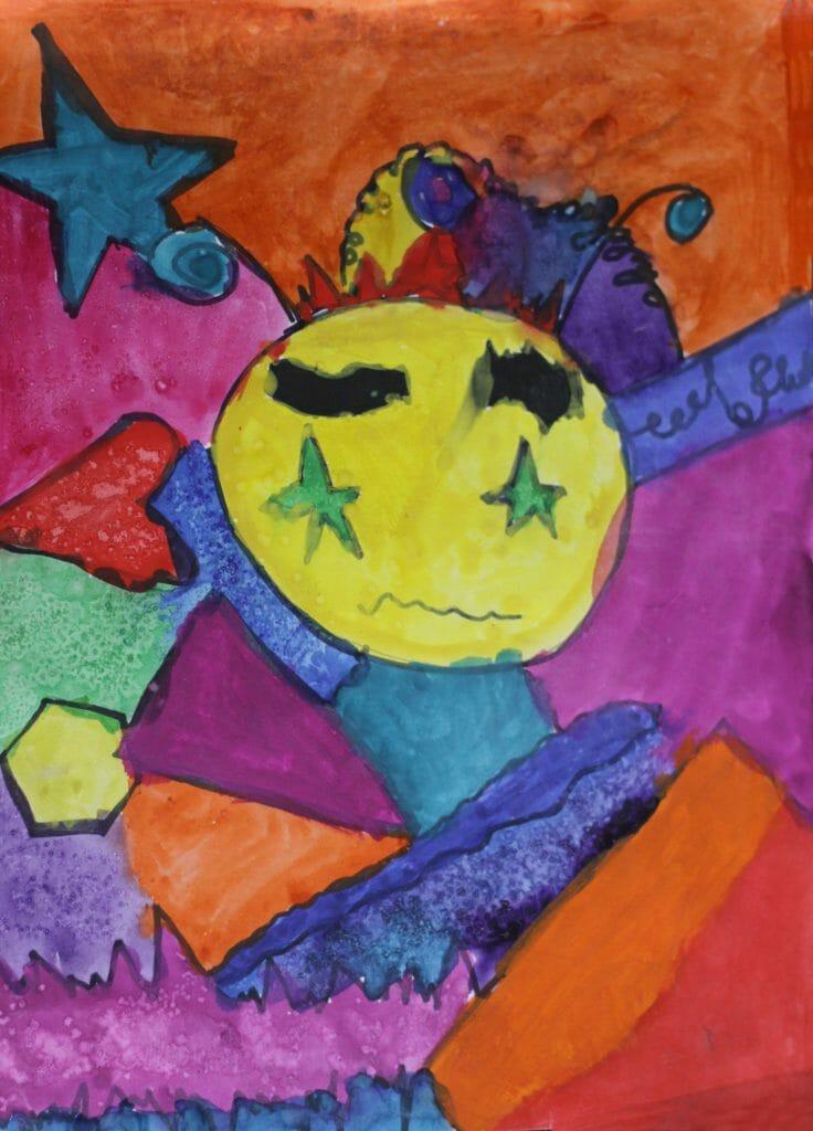 Emmy's original pastel artwork