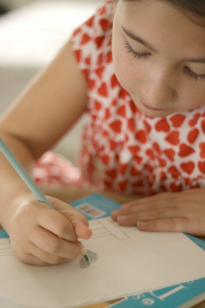 Emmy Drawing Owl for Bond Handwritten Cards