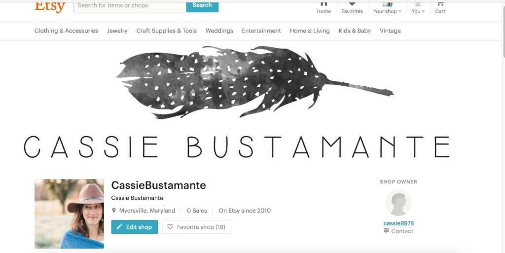 Cassie Bustamante Etsy Shop