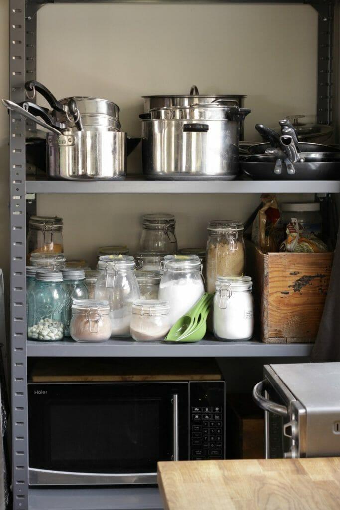 industrial Kitchen organization- dry goods