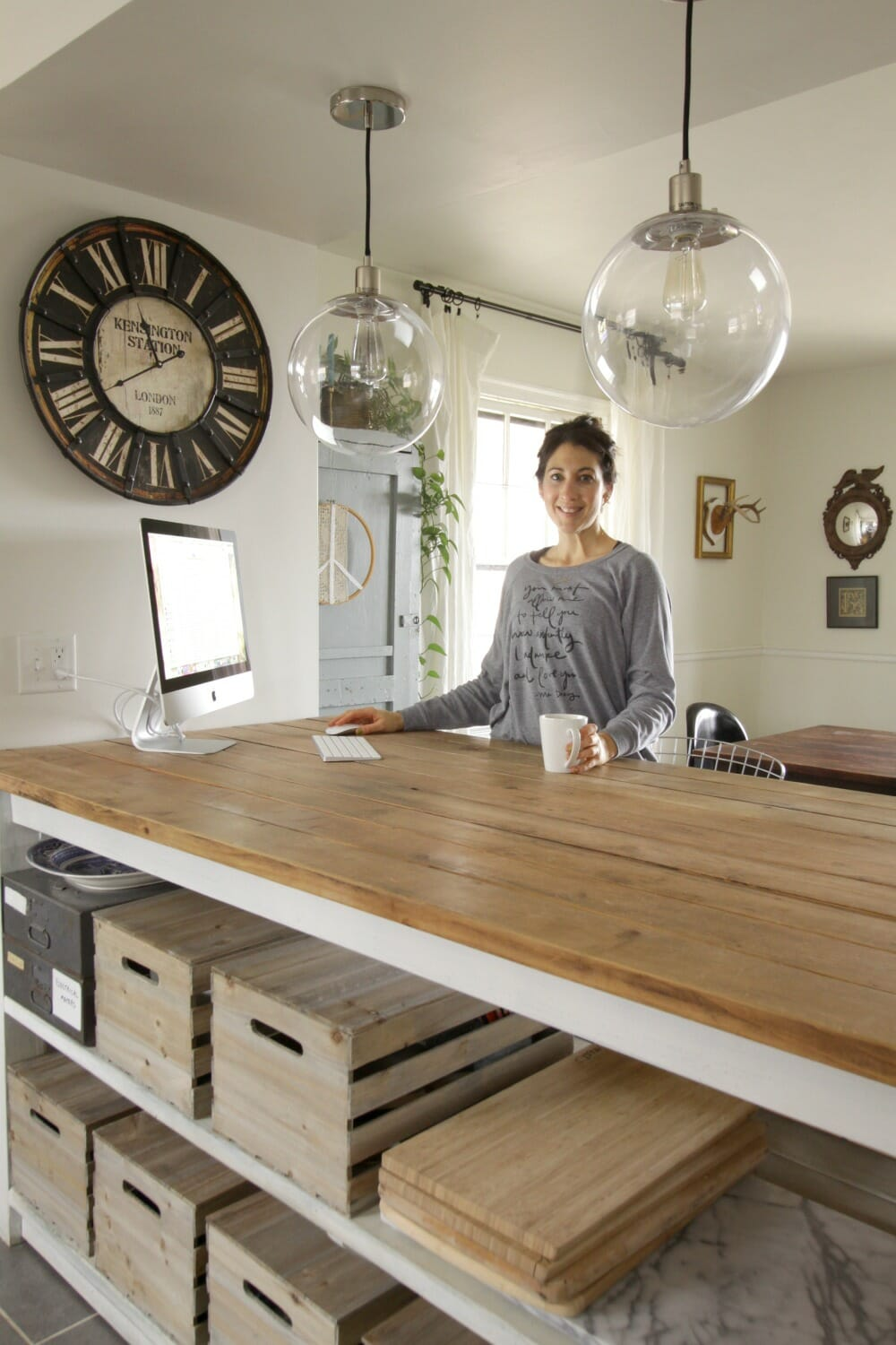 Marvelous At Home Kitchen Island Office