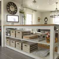 Industrial Kitchen Island With Storage from Crates & Pallets