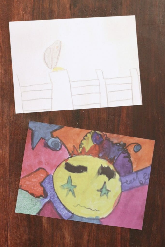 Kids Art Cards with bond- Fronts