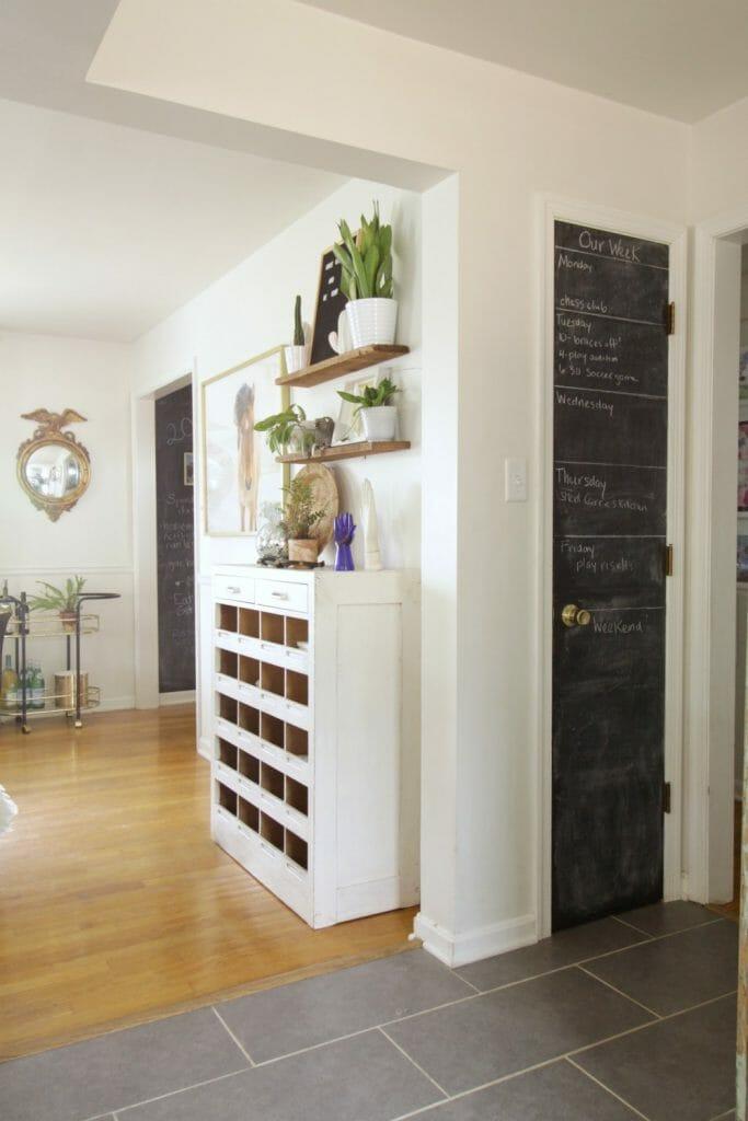 Kitchen Closet Chalkboard Door Calendar