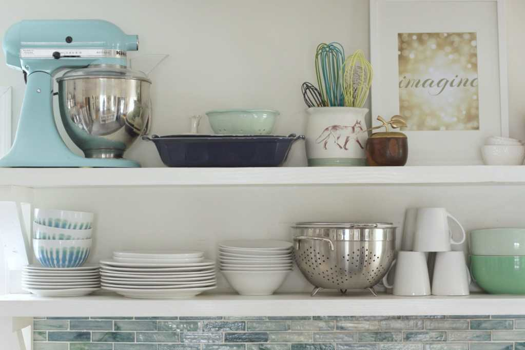 Kitchen Organization with Open Shelving