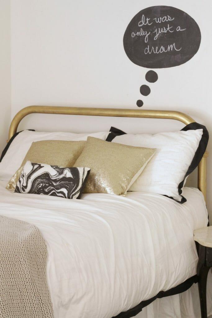 Black, Gold, White, Pillows