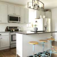 Harmony Hill Farmhouse Gray Kitchen: Budget DIY Ideas