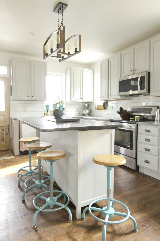 Simple Grey Farmhouse Kitchen