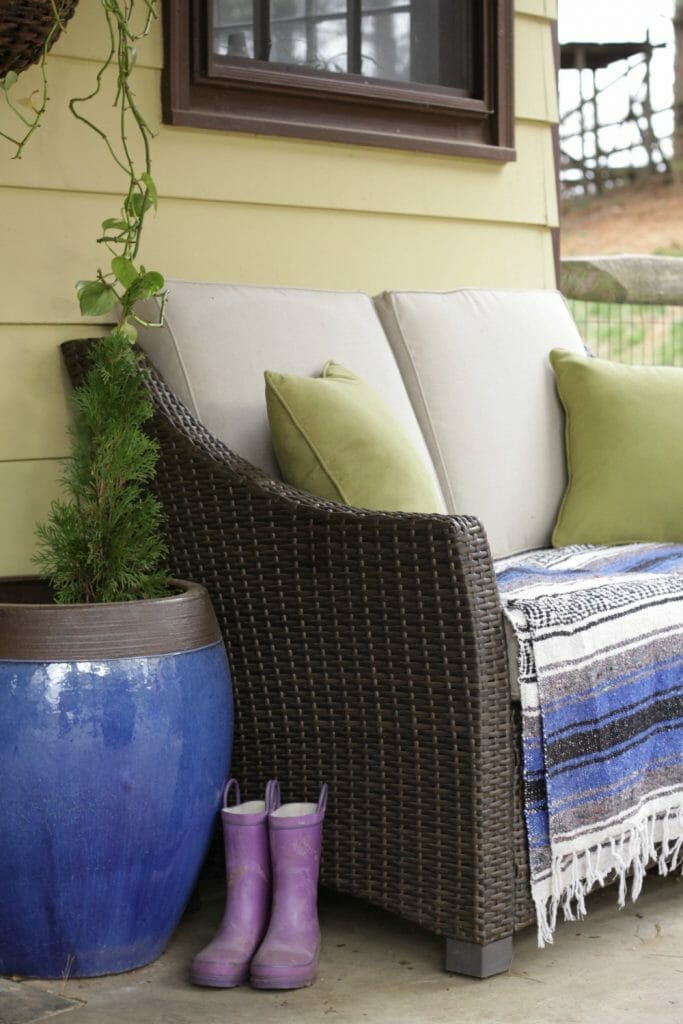 Spring Porch with Cobalt Accents