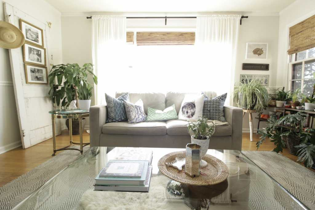 Eclectic Light Bright Living Room at Spring