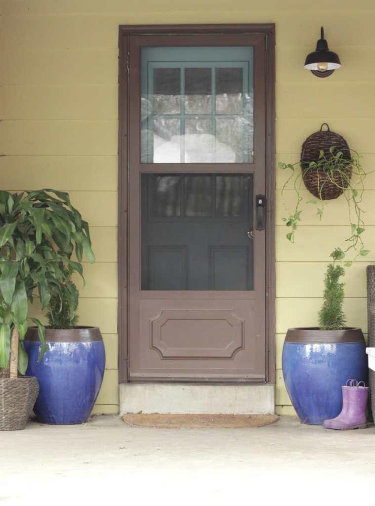 Modern Boho Porch Spring Entry