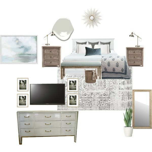 New Design Project: Budget-Friendly Serene Traditional-Eclectic Master Bedroom in North Carolina
