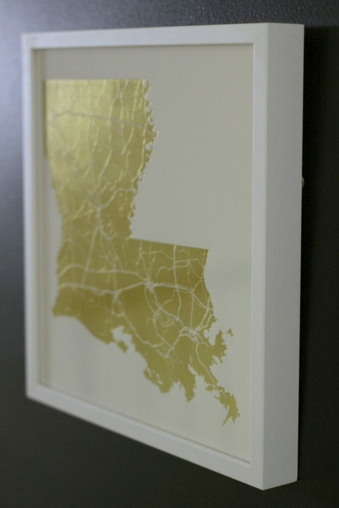 Louisiana Gold Foil Art