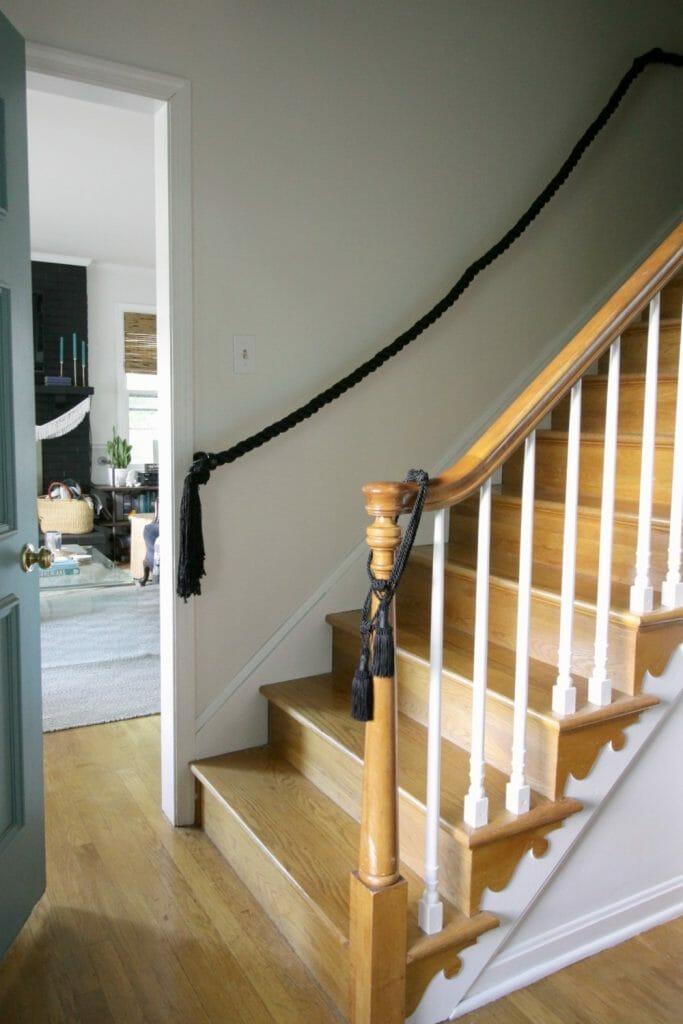 DIY Rope Stair Railing