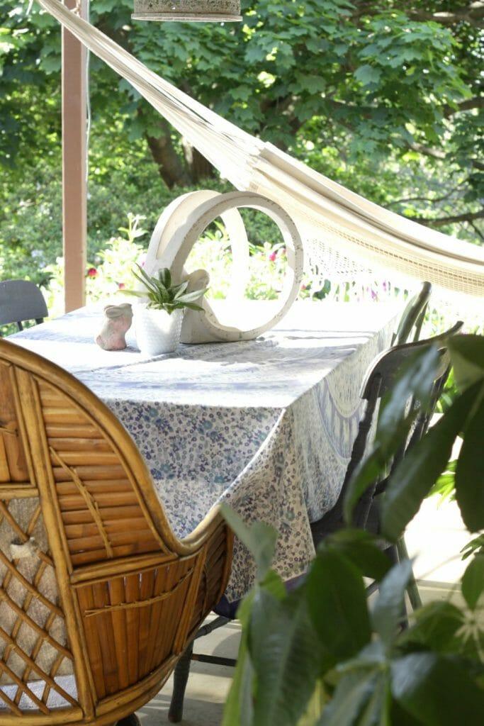 Summer Boho Porch with Hammock