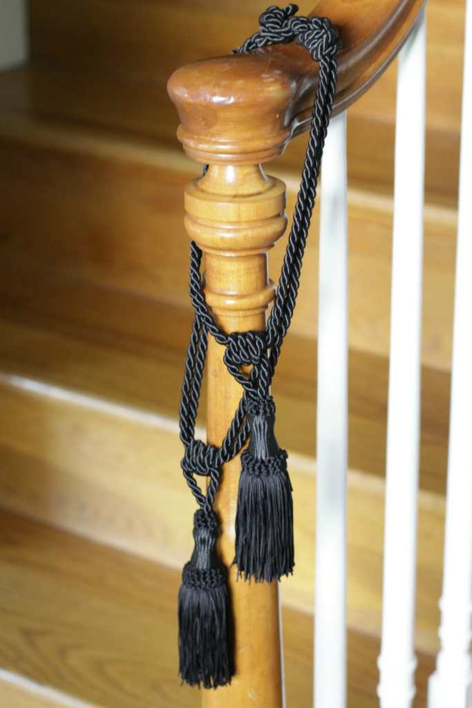 Tassels on stair rails