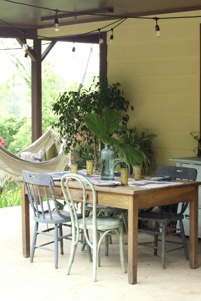 Boho Style Summer Outdoor Dining