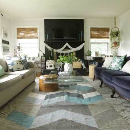 Seasonal Simplicity Summer Living Room Tour